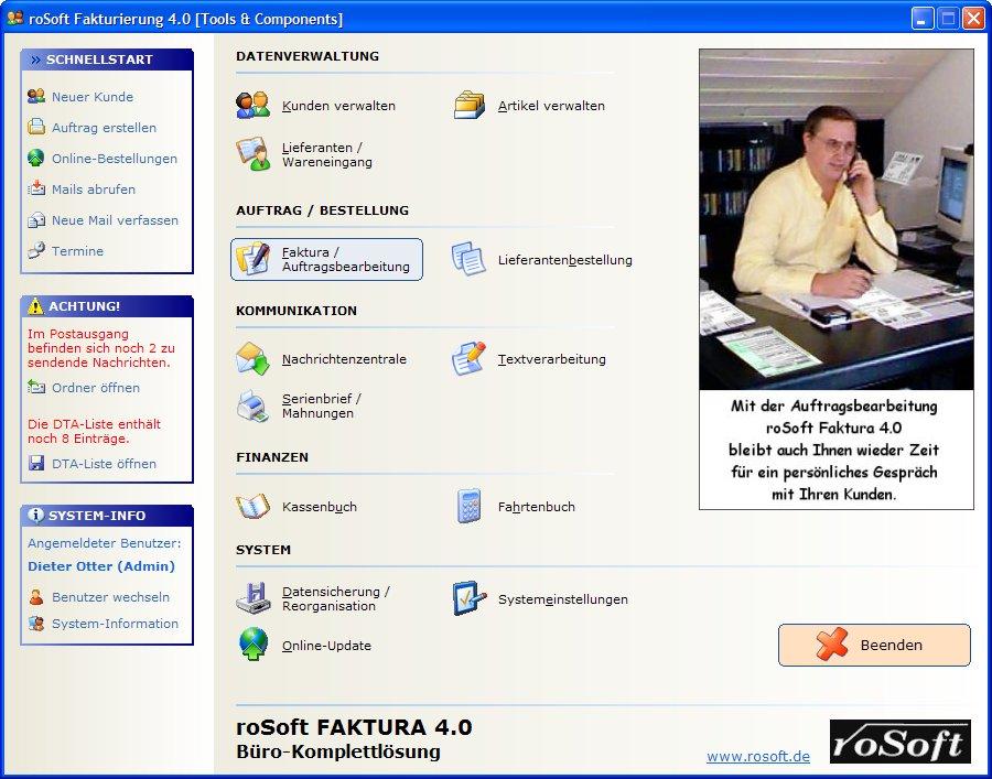 roSoft Faktura - Warenwirtschaftssystem